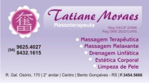 Massoterapeuta Tatiane Moraes